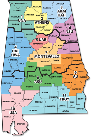 Alabama State Map By County.Contact Us Access Virtual Learning